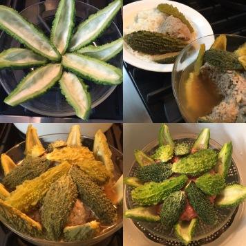 Steamed bitter melon